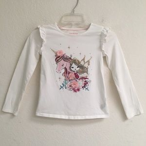 Isaac Mizrahi NY unicorn/fairy long sleeve shirt S